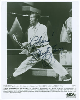CHUCK BERRY - AUTOGRAPHED SIGNED PHOTOGRAPH