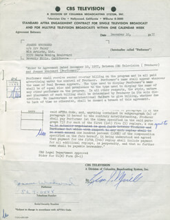 JOANNE WOODWARD - CONTRACT MULTI-SIGNED 12/10/1957