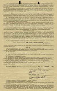 DAVID NIVEN - CONTRACT SIGNED 12/15/1949