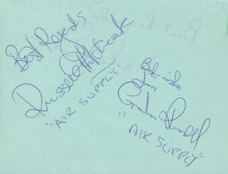 AIR SUPPLY - AUTOGRAPH SENTIMENT SIGNED CO-SIGNED BY: AIR SUPPLY (RUSSELL HITCHOCK), AIR SUPPLY (GRAHAM RUSSELL)