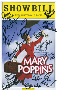 MARY POPPINS BROADWAY CAST - SHOW BILL SIGNED CO-SIGNED BY: ANN ARVIA, GAVIN LEE, CAMILLE MANCUSO, BLYTHE WILSON, JAMES HINDMAN, NOAH MARLOWE, RUTH GOTTSCHALL, STEFFANIE LEIGH, TYLER MERNA