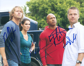 Autographs: NCIS: LOS ANGELES TV CAST - PHOTOGRAPH SIGNED CO-SIGNED BY: CHRIS O'DONNELL, LL COOL J , DANIELA RUAH, ERIC CHRISTIAN OLSEN