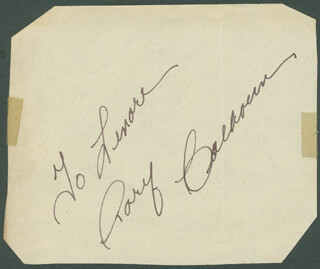RORY CALHOUN - INSCRIBED SIGNATURE