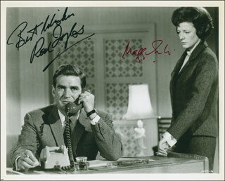THE V.I.P.S MOVIE CAST - AUTOGRAPHED SIGNED PHOTOGRAPH CO-SIGNED BY: DAME MAGGIE SMITH, ROD TAYLOR