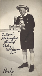 ROCKY GRAZIANO - AUTOGRAPHED INSCRIBED PHOTOGRAPH