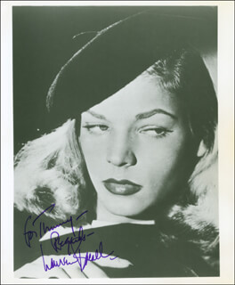 Autographs: LAUREN BACALL - INSCRIBED PHOTOGRAPH SIGNED