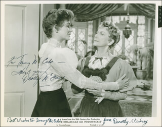 THE REMARKABLE MR. PENNYPACKER MOVIE CAST - AUTOGRAPHED INSCRIBED PHOTOGRAPH CO-SIGNED BY: DOROTHY STICKNEY, DOROTHY McGUIRE