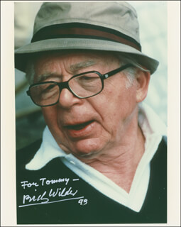 BILLY WILDER - AUTOGRAPHED INSCRIBED PHOTOGRAPH 1993