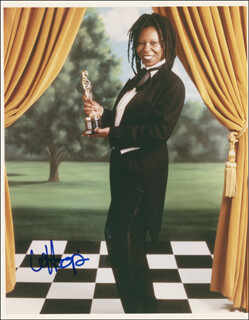WHOOPI GOLDBERG - AUTOGRAPHED SIGNED PHOTOGRAPH