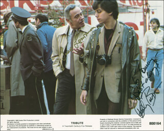 TRIBUTE MOVIE CAST - AUTOGRAPHED INSCRIBED PHOTOGRAPH CO-SIGNED BY: JACK LEMMON, ROBBY BENSON