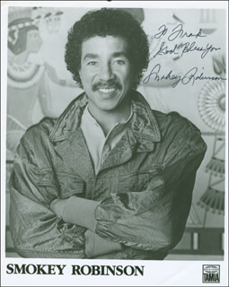 SMOKEY ROBINSON - AUTOGRAPHED INSCRIBED PHOTOGRAPH