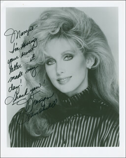 MORGAN FAIRCHILD - AUTOGRAPHED INSCRIBED PHOTOGRAPH