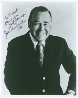 JONATHAN WINTERS - AUTOGRAPHED INSCRIBED PHOTOGRAPH 1985