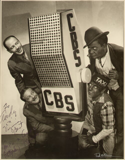 AMOS 'N' ANDY RADIO & TV CASTS - AUTOGRAPHED INSCRIBED PHOTOGRAPH CO-SIGNED BY: CHARLES ANDY CORRELL, FREEMAN AMOS GOSDEN