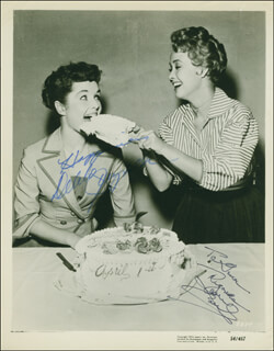 JANE POWELL - AUTOGRAPHED INSCRIBED PHOTOGRAPH CO-SIGNED BY: DEBBIE REYNOLDS