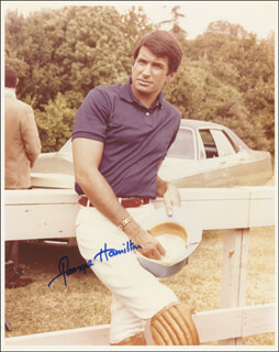 GEORGE HAMILTON - AUTOGRAPHED SIGNED PHOTOGRAPH