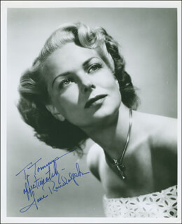 JANE RANDOLPH - AUTOGRAPHED INSCRIBED PHOTOGRAPH