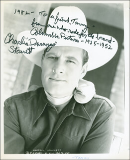 CHARLES DURANGO STARRETT - AUTOGRAPHED INSCRIBED PHOTOGRAPH 1982