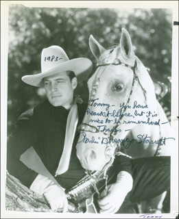 CHARLES DURANGO STARRETT - AUTOGRAPHED INSCRIBED PHOTOGRAPH 1983