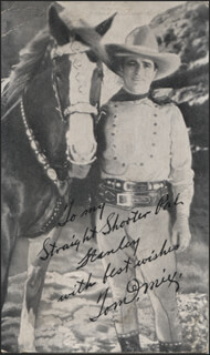 TOM MIX - INSCRIBED PHOTOGRAPH UNSIGNED