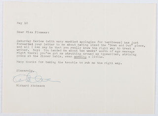 RICHARD ATCHESON - TYPED LETTER SIGNED 05/10