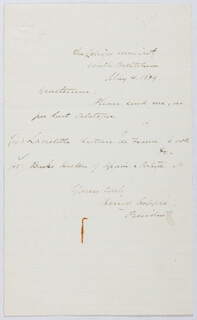 HENRY COPPEE - AUTOGRAPH LETTER SIGNED 05/04/1869