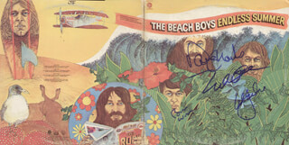 THE BEACH BOYS - RECORD ALBUM COVER SIGNED CO-SIGNED BY: THE BEACH BOYS (MIKE LOVE), THE BEACH BOYS (AL JARDINE), THE BEACH BOYS (BRIAN WILSON), THE BEACH BOYS (DAVID MARKS)