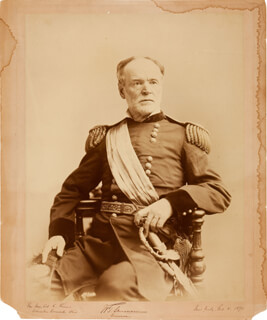 Autographs: GENERAL WILLIAM T. SHERMAN - INSCRIBED PHOTOGRAPH SIGNED 02/08/1890