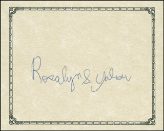 Autographs: ROSALYN S. YALOW - SIGNATURE(S)