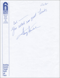 Autographs: HENRY J. HEIMLICH - AUTOGRAPH NOTE SIGNED 05/12/1995