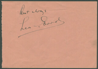 LEON ERROL - AUTOGRAPH SENTIMENT SIGNED CO-SIGNED BY: BARBARA JO VERA VAGUE ALLEN
