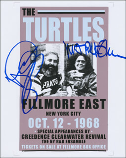 THE TURTLES - AUTOGRAPHED SIGNED PHOTOGRAPH CO-SIGNED BY: TURTLES, THE (MARK VOLMAN), THE TURTLES (HOWARD KAYLAN)