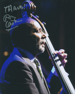 RON CARTER - AUTOGRAPHED SIGNED PHOTOGRAPH