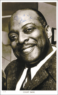 COUNT BASIE - PICTURE POST CARD SIGNED