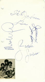 THE JACKSON FIVE - AUTOGRAPH CO-SIGNED BY: THE JACKSON FIVE (JERMAINE JACKSON), THE JACKSON FIVE (TITO JACKSON), THE JACKSON FIVE (JACKIE JACKSON), MICHAEL JACKSON