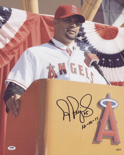 ALBERT PUJOLS - AUTOGRAPHED SIGNED PHOTOGRAPH 12/10/2011