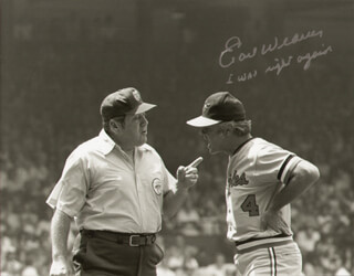 EARL WEAVER - AUTOGRAPHED SIGNED PHOTOGRAPH