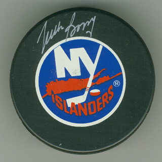 MIKE BOSSY - HOCKEY PUCK SIGNED