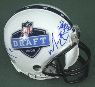 DALLAS COWBOYS - MINIATURE HELMET SIGNED CO-SIGNED BY: ORLANDO SCANDRICK, TASHARD CHOICE, MARTELLUS BENNETT