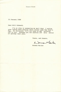 NORMAN MAILER - TYPED LETTER SIGNED 01/13/1988