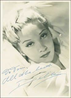 Autographs: BELITA - INSCRIBED PHOTOGRAPH SIGNED