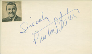 PRESTON S. FOSTER - AUTOGRAPH SENTIMENT SIGNED