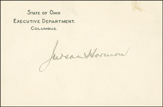 JUDSON HARMON - PRINTED CARD SIGNED IN INK