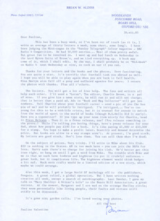 BRIAN WILSON ALDISS - TYPED LETTER SIGNED 07/26/1985