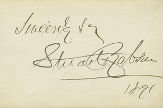 STUART ROBSON - AUTOGRAPH SENTIMENT SIGNED 1891 CO-SIGNED BY: EUGENIE BLAIR