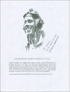 COMMANDER WILLIAM ROBERT MAXWELL - PRINTED PHOTOGRAPH SIGNED IN INK