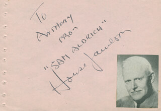 HOUSE JAMESON - AUTOGRAPH NOTE SIGNED