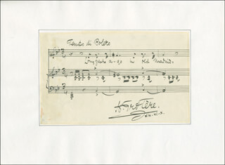 HENRY (HENRY TROTTER) TROTERE - AUTOGRAPH MUSICAL QUOTATION SIGNED 06/19/1910