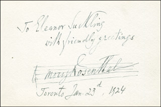 MORIZ ROSENTHAL - AUTOGRAPH NOTE SIGNED 01/23/1924
