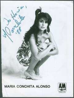 MARIA CONCHITA ALONSO - AUTOGRAPHED INSCRIBED PHOTOGRAPH 1988